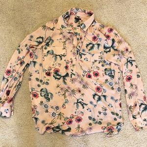 Ann Taylor Floral Shirt